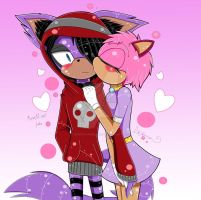 Maxwell the cat and talia the hedgehog by sonicfangirl666
