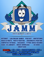 JAMM Internet Cafe Tarp Design by KenzeroPH