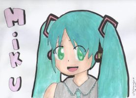 Hatsune Miku painting by anime-lover05