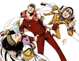 one piece admirals by dudandwiggles