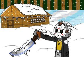 Winter in camp Crystal Lake by xEvilxPenguinxNinjax