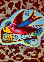 hard times swallow by ShellyZTrueheartInk