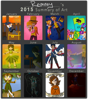 2015 Summary of Art by Remmis-AppleMaster