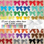 22 pair of vector ribbon bows by Anya82