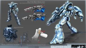 RIFTS Project : Glitterboy by takaya
