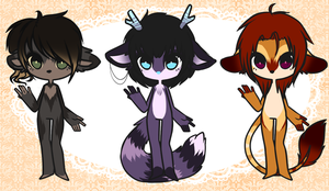 [ Adoptables . set 4 ] by heartXsurgery