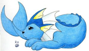 Vaporeon Resting by MineralRabbit