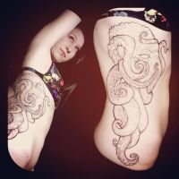 Work In Progress: Breezy's Octopus by Tattoo-Nouveau