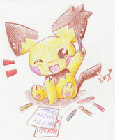.Birthday Gizamimi Pichu. by Ishisu