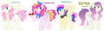 mlp shipping adoptables (mane6 batch 1)(closed!) by sharkissus