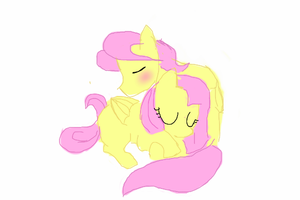 Fluttershy And ButterScotch by AliceIsIn-Wonderland