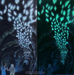 Cave of Two Lovers: Daylight and Black Light by ChalkTwins