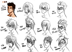 Lightning Hairstyles and Masks by kaioutei