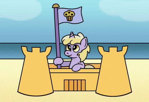 Muffin Kingdom at the beach. by GoggleSparks