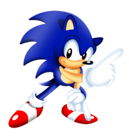 classic sonic Commission colored by megax88