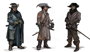 Musketeers by weremagnus