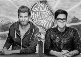 Rhett and Link Good Mythical Morning by Yankeestyle94