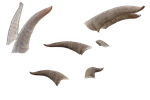 Free Goat Horns PNG cutout by BreathingIce