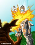 Barry vs. MG2 (Godzilla vs. The Robot Monsters) by kaijukid