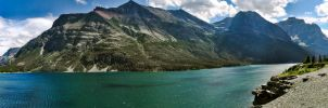 St. Mary Lake Pano by KRHPhotography