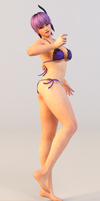 Ayane 3DS Render 13 by x2gon