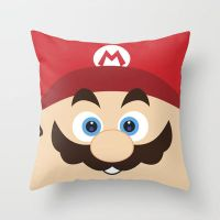 Super Mario Throw Pillow / Cover by crystaland
