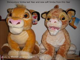 Old Disneystore Simba and new Simba by MoondragonEismond