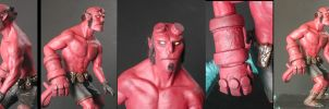 Hellboy sculpt completion by missmonster