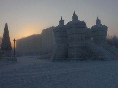 Snow Castle by Vicomtyan