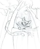 Cheshire Cat sketch by tursiart