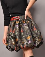 Grey Brocade Bubble Skirt 7 by yystudio