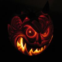 """Devil"" Pumpkin by crazyjazzer"