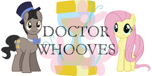 Doctor Whooves and Fluttershy by Alkonium