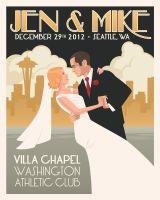 Jen and Mike Wedding Poster by mscorley