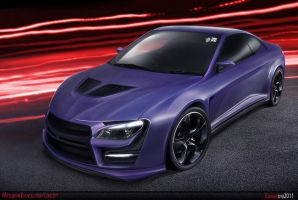 Mitsubishi Evolution concept by dr-phoenix