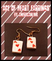 Ace of Heart Earrings by querulousArtisan