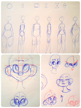 Youtube tutorial: faces and bodies by Nekouhai