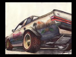 87 Buick GNX In Vegas by FastLaneIllustration