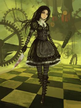 Alice Madnes Returns Steampunk Dress by xXDestielXx