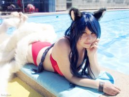 Pool Party Ahri cosplay! by RosseSinner