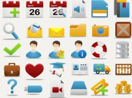 Pretty office icon part 2 set by FreeIconsFinder