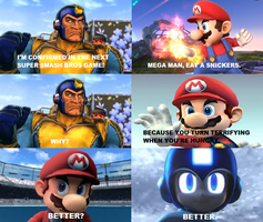 Snickers Meme #1: Super Smash Bros by thekirbykrisis