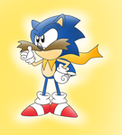 A Different type of Super Sonic.. by ClassicSonicSatAm