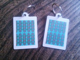 Tribal pattern keyrings by andrea-gould