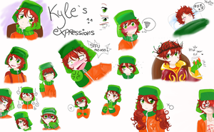 Raaandom Kyle Expressions by Martyna-Chan