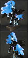 S02E04 - Nightmare Moon on a pedestal by Laservega