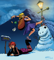 Giana Sisters : Twisted Winter by Fougna
