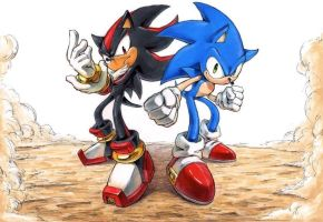 Sonic and Shadow by raseinn