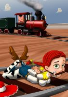 Hogtied Jessie by cabroon