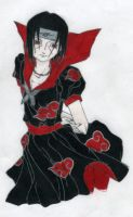Itachi in a dress by FlangSedai